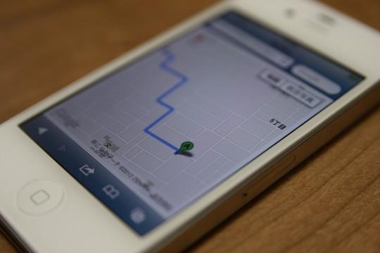 今いる位置から→目的地までの道のりを「スマートフォン」で表示する